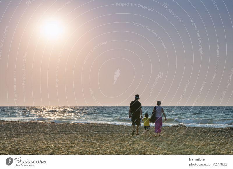Human being Woman Child Man Blue Water Vacation & Travel Beautiful Summer Sun Ocean Beach Calm Adults Far-off places Coast
