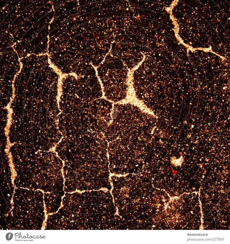 Burst asphalt Lightning Brown Thunder and lightning Crack & Rip & Tear Structures and shapes Ground Decline Transience Asphalt Grainy Colour photo