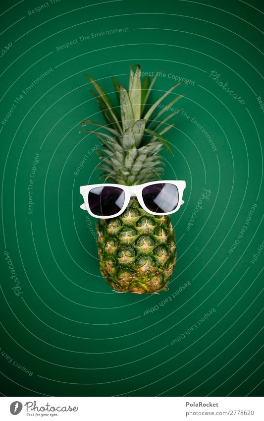 #A# exotic coolness Art Esthetic Exotic Pineapple Ananas leaves Pineaple platation Sunglasses Cool (slang) Colour photo Multicoloured Interior shot Studio shot