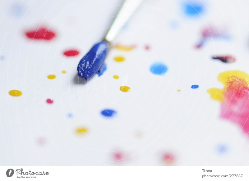BluePage Leisure and hobbies Bright Multicoloured Yellow Red White Painting and drawing (object) Paintbrush Colour Watercolor Watercolors Point Drop