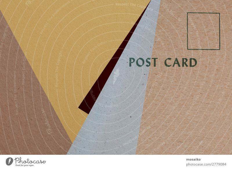postcard for you - graphic design Style Design Trade Logistics Craft (trade) Mail Business Career To talk Art Paper Esthetic Retro Brown Yellow Gray Colour