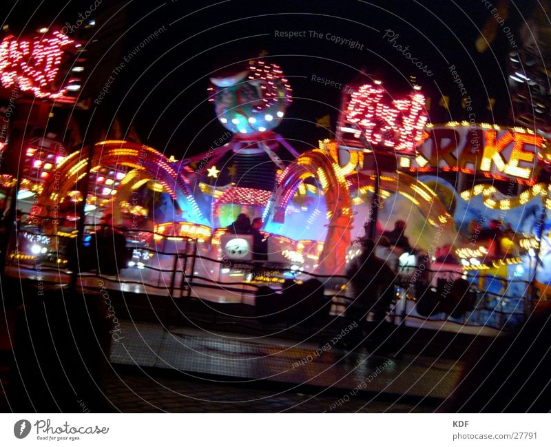 Easter meadow Bremen Night Long exposure Fairs & Carnivals Leisure and hobbies KDF Octopus jahm market Light Feasts & Celebrations Human being