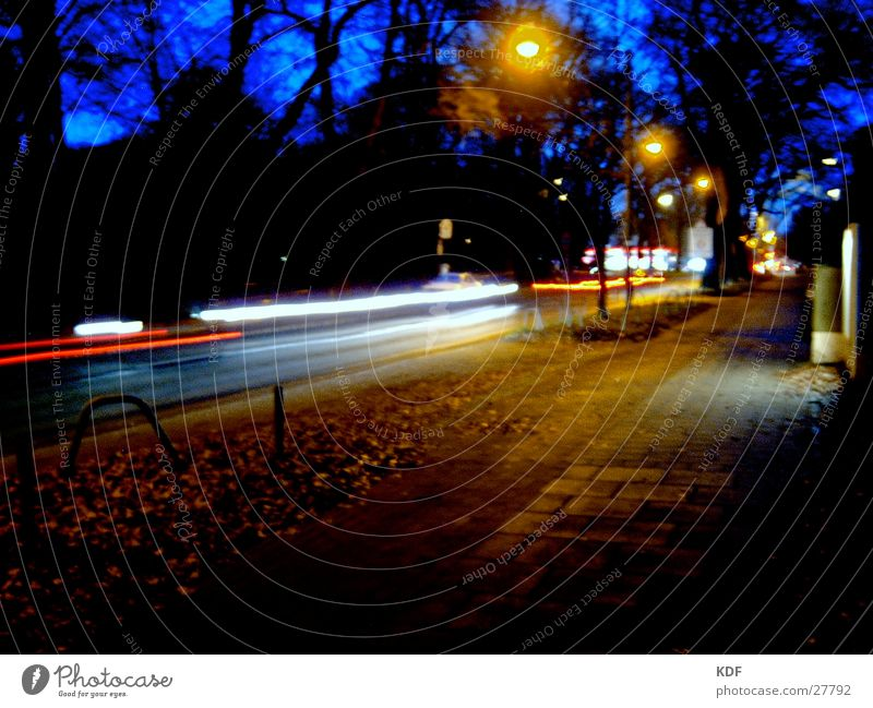 ...on the streets Night Bremen Light Tree Long exposure Street Evening KDF