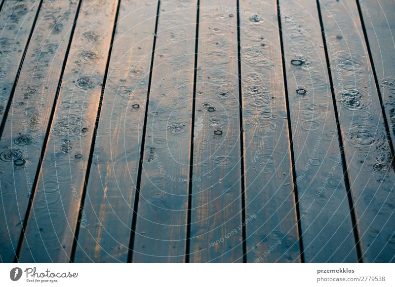Wood planks while raining in perspective. Summer Weather Rain Line Drop Wet Perspective backdrop background board Plank Veranda raindrop Seasons Splash spring