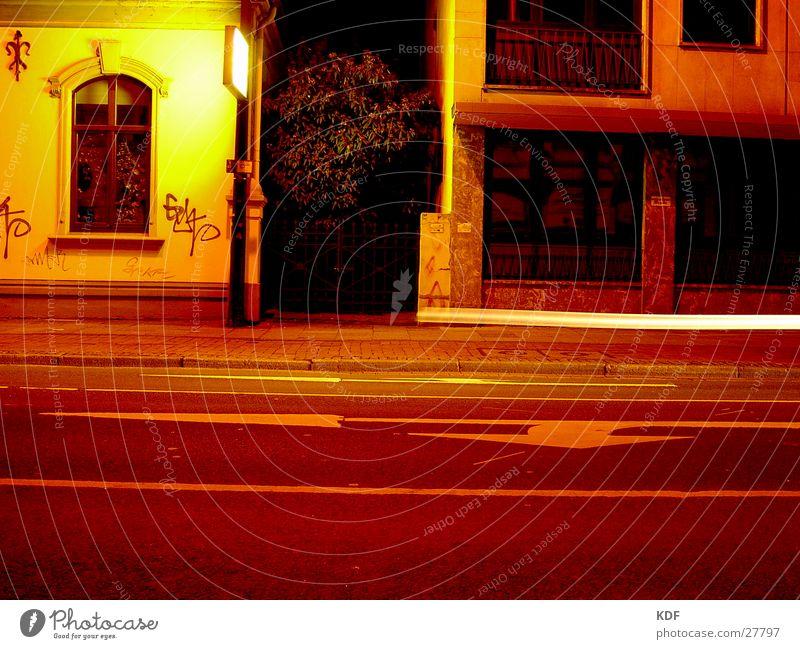 ...at night umtribig... Night Long exposure Bremen Yellow Tree Town Light KDF Movement Street