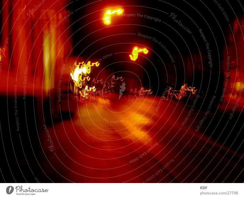 ...busy at night.... Night Bremen Long exposure Yellow Red Street KDF Orange