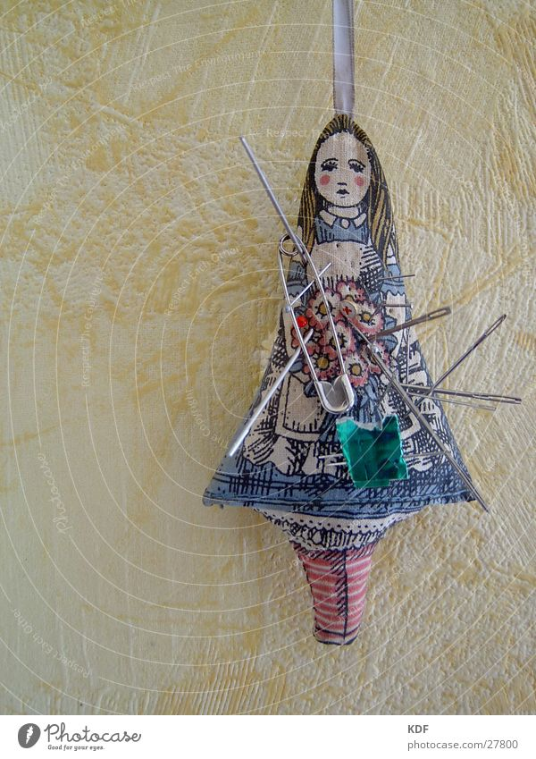 Voodoo at grandma's... Grief Obscure Pincushion Needle Sadness Doll KDF