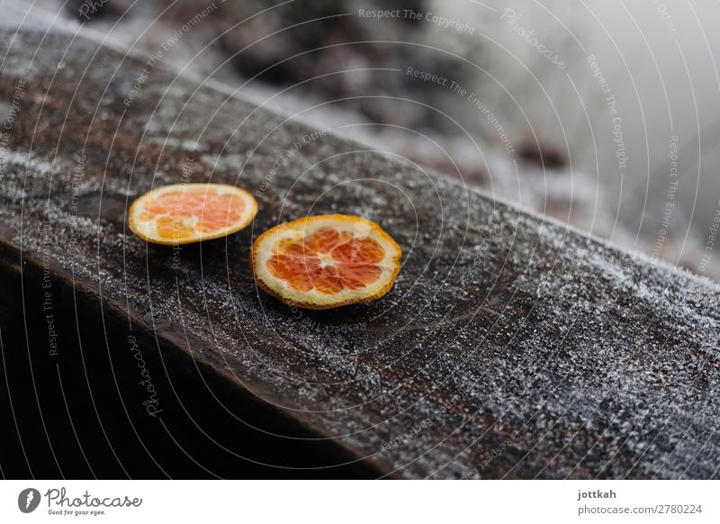 Winter Orange Picnic Food Fruit Nutrition Cold Round Gloomy Attentive Appetite Energy Fitness Healthy Pure Transience Remainder Cut Frost Colour Bright spot 2