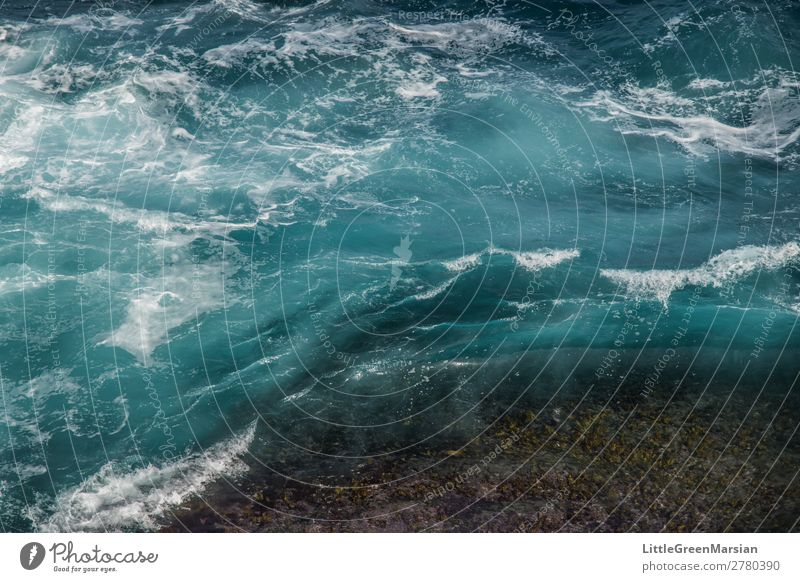 In motion Nature Summer Blue Water White Ocean Beach Natural Coast Movement Stone Waves Wet Elements Turquoise Fluid