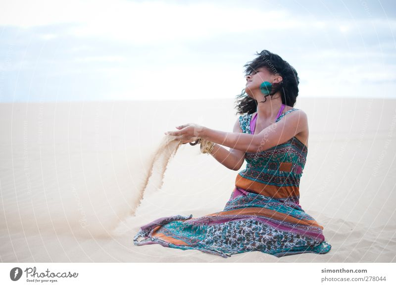sand Vacation & Travel Adventure Far-off places Freedom Safari Expedition Summer Summer vacation Sun Ocean Feminine Young woman Youth (Young adults) 1