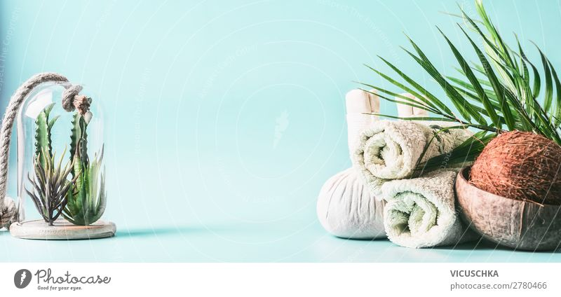 Beautiful Relaxation Healthy Background picture Style Design Table Wellness Personal hygiene Alternative medicine Massage Towel Spa Medical treatment Coconut