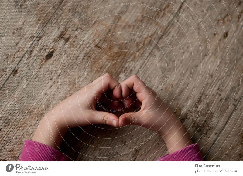 heart Arm Hand Fingers Love Life Heart Children`s hand Wood Colour photo Interior shot Day Light Shadow Bird's-eye view