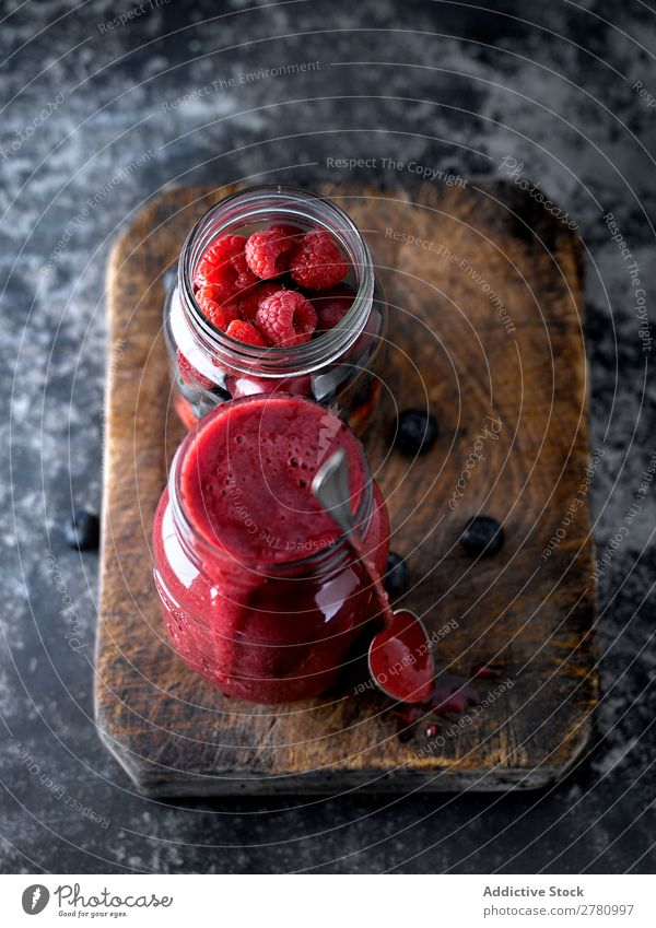 Smoothie with red mixed fruit Milkshake Red Fruit Mix Dessert Drinking Berries Rustic Ingredients Mature Colour Delicious Food jar Pink Home-made Mug Nutrition