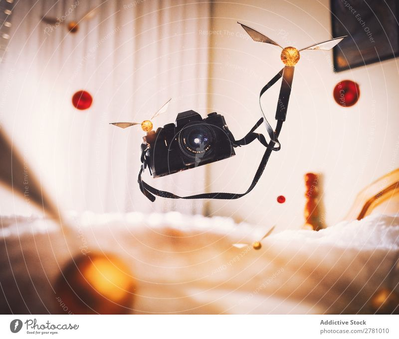Flying camera with Quidditches Camera quidditch Photography Magic Old Film Abstract levitate Strange Conceptual design Fantasy Intellect Mystic Lifestyle