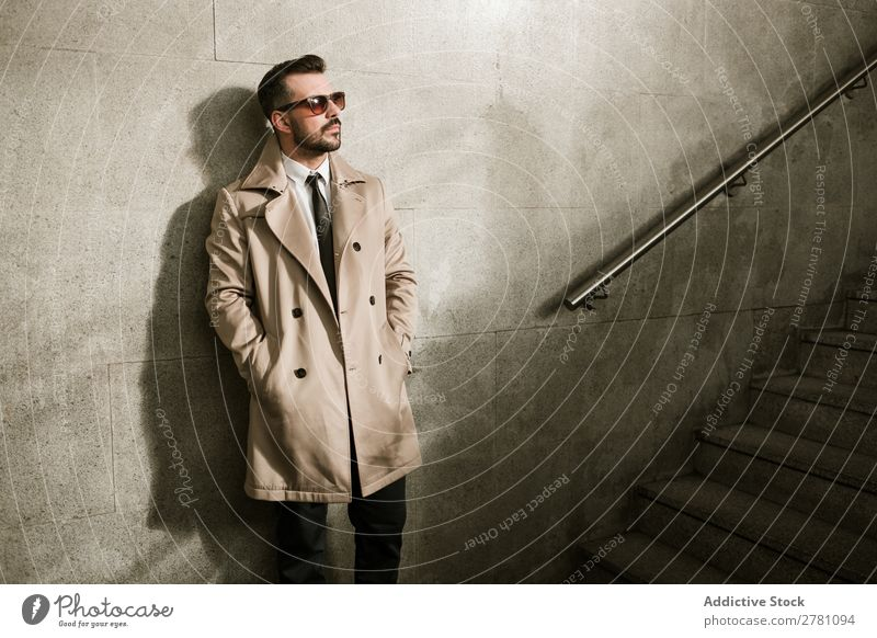 Handsome man Man handsome Style Adults Fashion Sunglasses Handrail Steps Human being fashionable Portrait photograph Model Attractive Guy Modern Hip & trendy