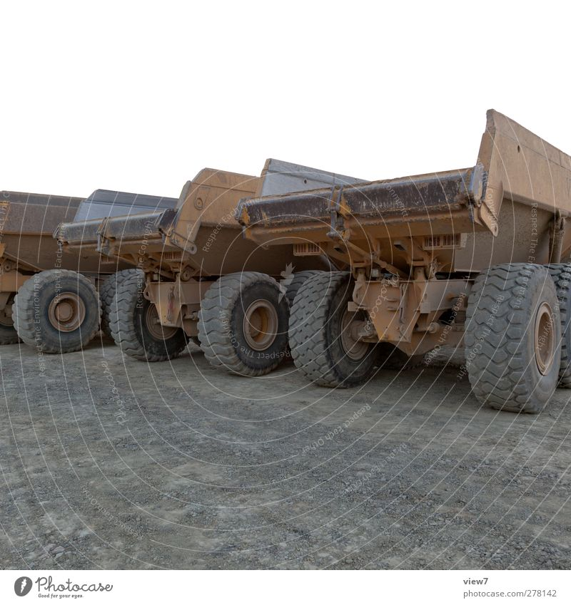 heavy equipment Craftsperson Construction site Logistics Transport Street Vehicle Truck Site trailer Old Esthetic Dirty Authentic Muscular End