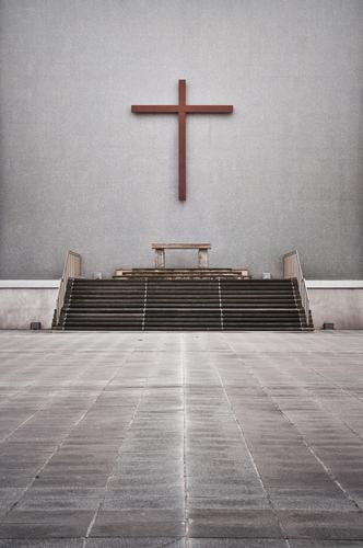 altar square Liverpool Esthetic Crucifix Church Altar Stairs Places Exterior shot Prayer House of worship Church service Religion and faith God Majestic