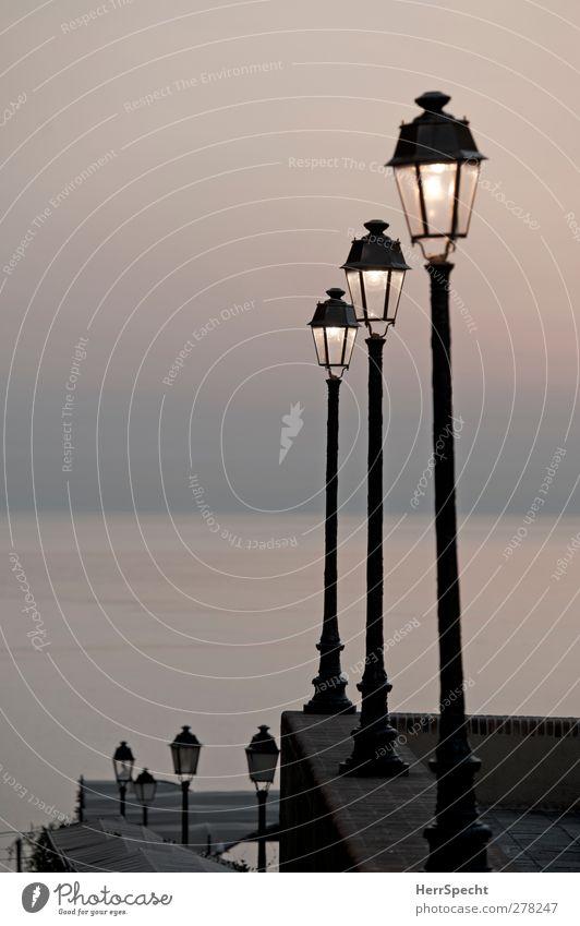 Ocean Loneliness Calm Horizon Esthetic Vantage point Street lighting Promenade Port City