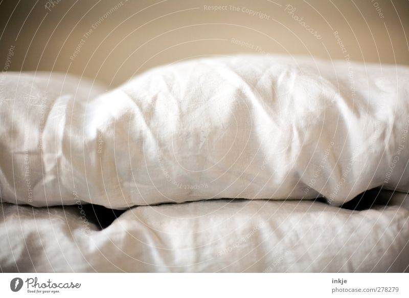 Sunday detail Living or residing Bed Bedclothes Quilt Lie Cuddly Soft Brown White Emotions Moody Calm Relaxation Break Duvet Vignetting Across Consecutively