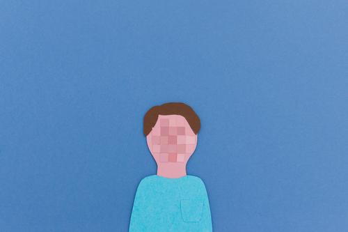 Anonymous on the net | Pixelated user portrait cut out of paper Advancement Future Information Technology Internet Masculine Head 1 Human being Utilize