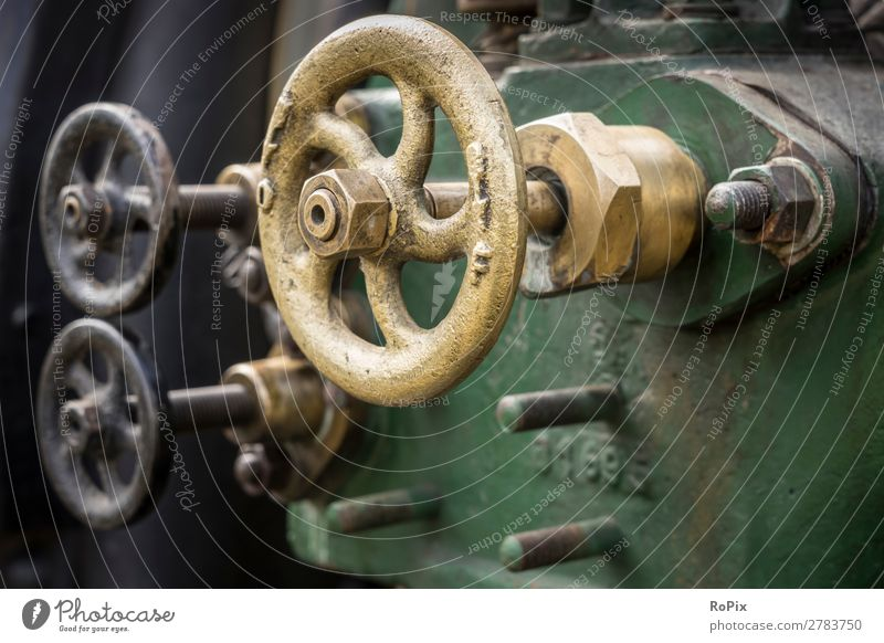 Valves of a steam engine. Model-making Science & Research Work and employment Craftsperson Workplace Economy Agriculture Forestry Industry Machinery