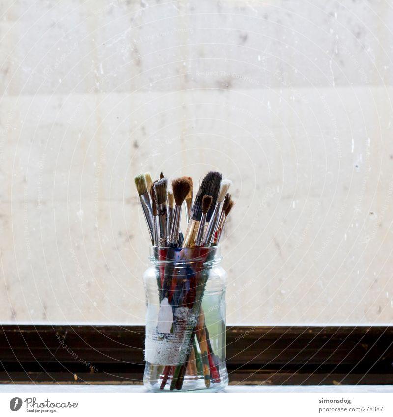 analog brushes Art Painter Paintbrush Keep Artist's werkstatt Artist's life Paint factory Joy Dye Creativity Painting (action, artwork) Bristles Second-hand