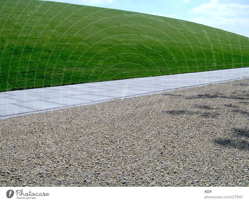 nothing going on Empty Grass Meadow Lanes & trails Doomed Gravel Fresh New Virgin land Land Feature Transport Modern Teletubbyland Idea Phenomenon Landscaping