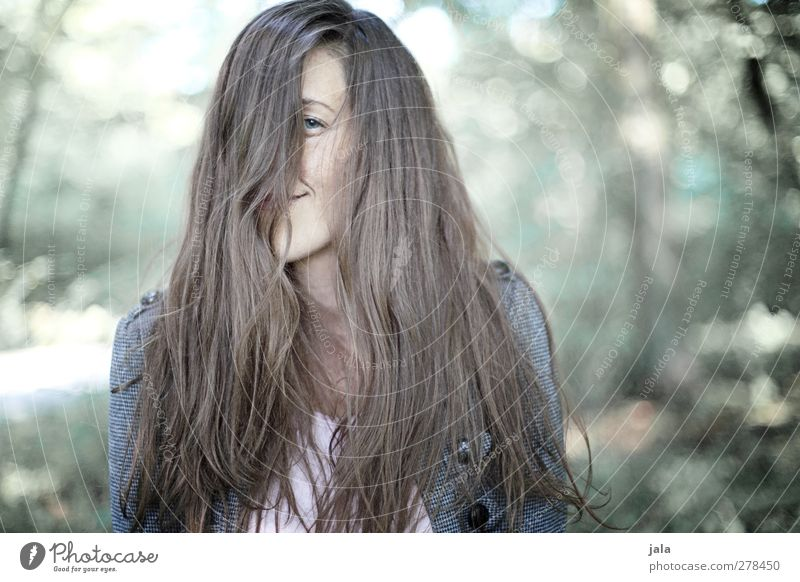 Human being Woman Nature Tree Plant Joy Adults Forest Environment Feminine Hair and hairstyles Happy Contentment Brunette Long-haired 30 - 45 years