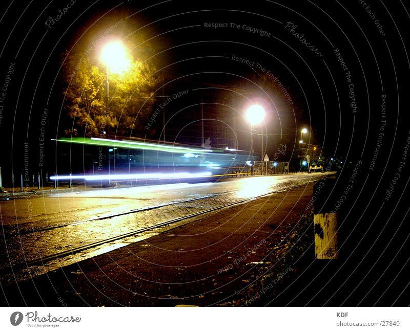 night line Night Long exposure Eerie Dark nightliner Bus Wet ghostly