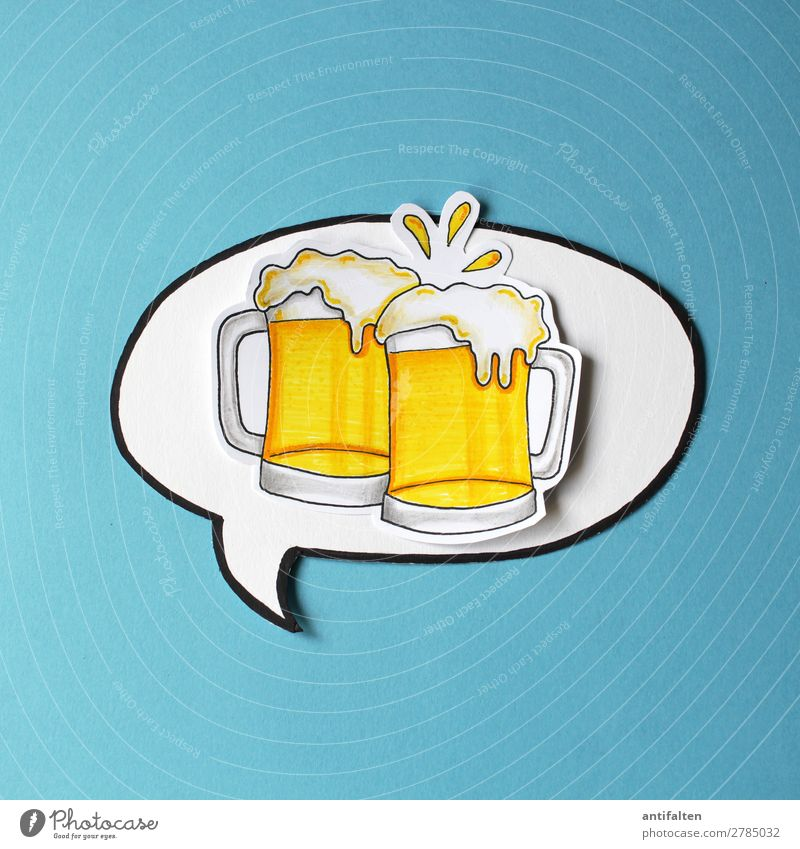 Beer here, beer here... Beverage Drinking Alcoholic drinks Beer mug Lifestyle Design Joy Leisure and hobbies Handicraft Draw Illustration Vacation & Travel