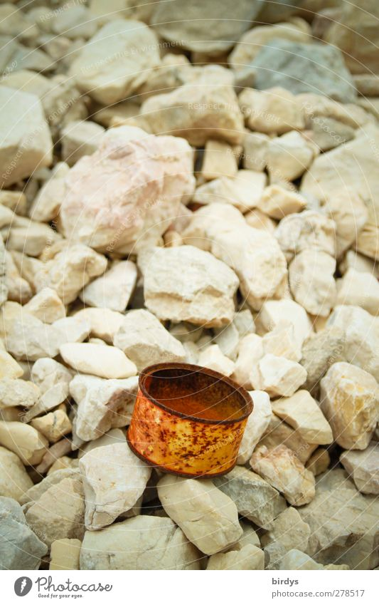 Old Stone Authentic Transience Trash Rust Remainder Environmental pollution Tin of food