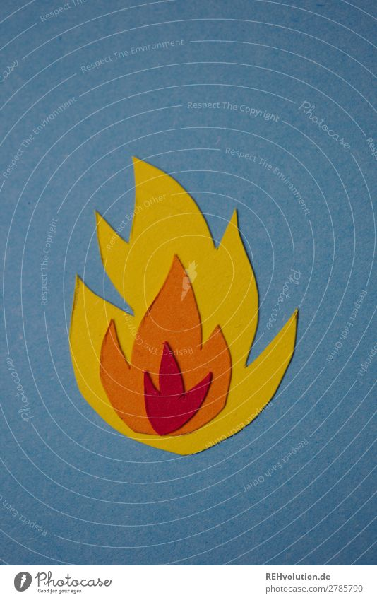 fiery Fire Symbols and metaphors Paper Home-made Flame Sign background Warmth Hot Blaze Burn peril Threat Illustration Passion Graph Neutral Background