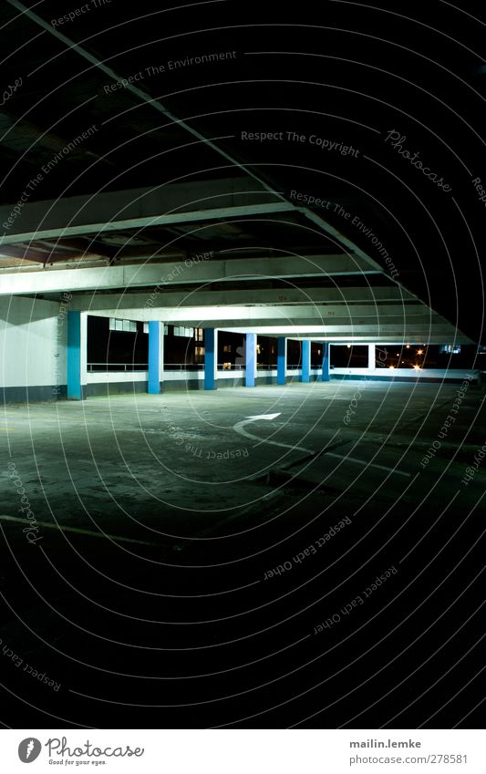 multi-storey car park Wellington New Zealand Downtown Deserted Parking garage Wall (barrier) Wall (building) Authentic Exceptional Threat Dirty Dark Simple