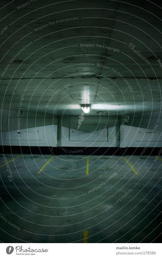 Blue White Black Yellow Dark Authentic Threat Simple Sharp-edged Parking garage