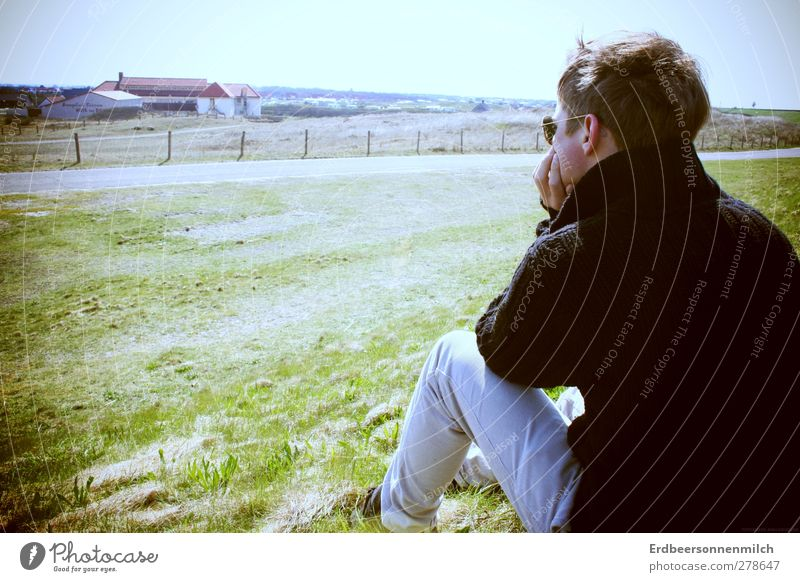 whooping longing Masculine Nature Landscape Crouch Looking Dream Sadness Authentic Contentment Spring fever Trust Safety Love Infatuation Caution Serene Patient