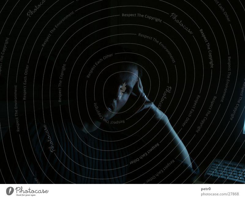 thinkin bout.... Silhouette Forehead Dark Calm Man Profile Nose Arm Circle Shadow
