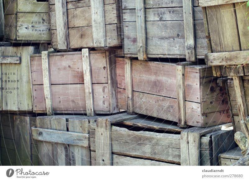 HoKiWa Trade Logistics Craft (trade) Packaging Box Wooden box Old Sharp-edged Multicoloured Stack Storage Covered market Broken Second-hand Warehouse