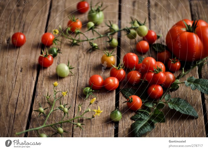 Healthy Food Fresh Nutrition Vegetable Harvest Delicious Organic produce Diet Tomato Vegetarian diet Country life Food photograph Rustic Wooden table Slow food