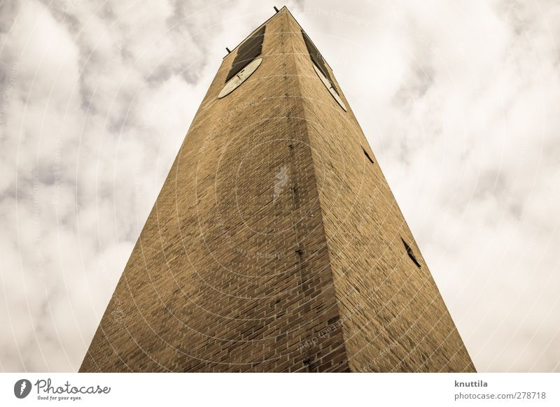 Powerful Church Tower Hunting Blind Manmade structures Building Architecture Wall (barrier) Wall (building) Facade Threat Brown Yellow Gold Red Black White