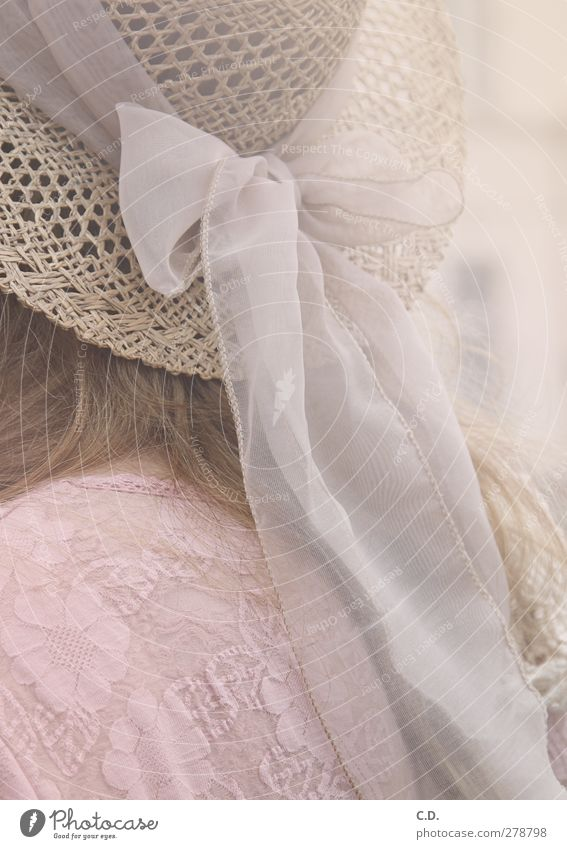 White Feminine Pink Blonde Elegant Esthetic Hat Bow Straw hat