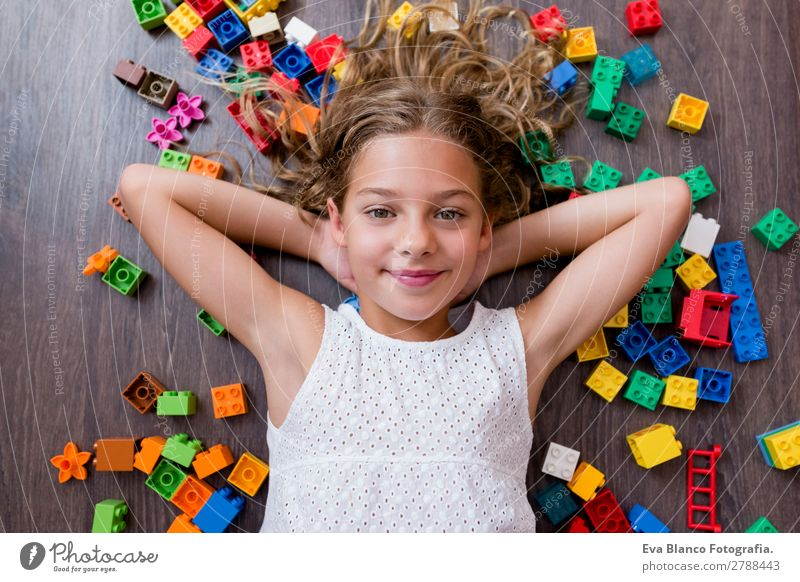 portrait of a Cute beautiful girl at home Lifestyle Joy Leisure and hobbies Playing House (Residential Structure) Kindergarten Child School Human being Feminine