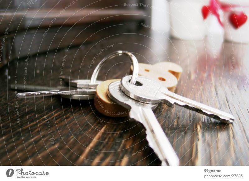 Wood Heart Things Key Flowerpot Clef