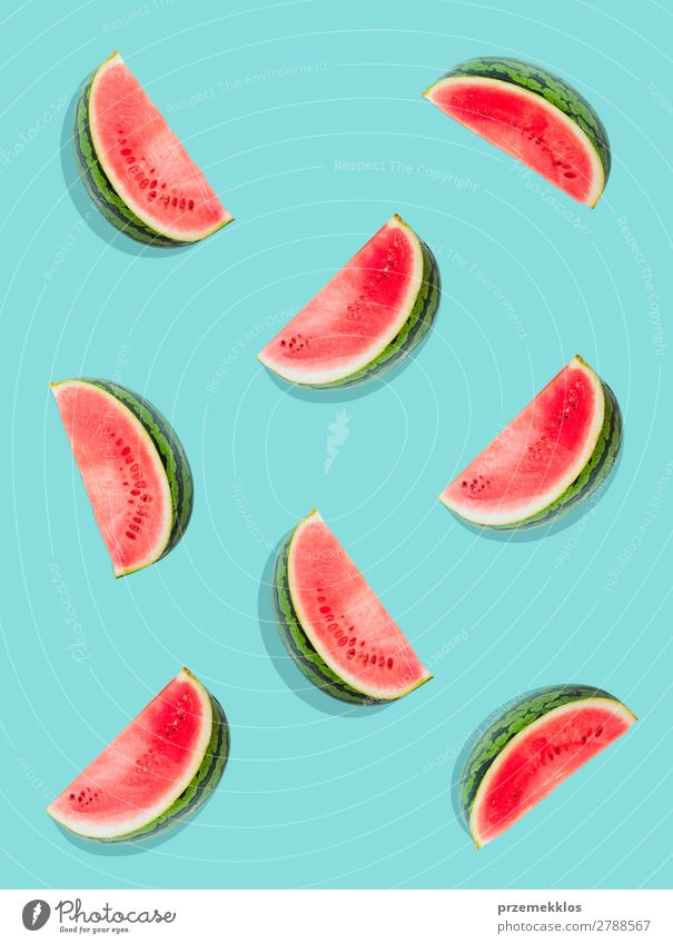 Watermelon pattern. Fruit Nutrition Eating Vegetarian diet Diet Summer Fresh Delicious Natural Juicy Clean Green Red flat food freshly Fruity healthy
