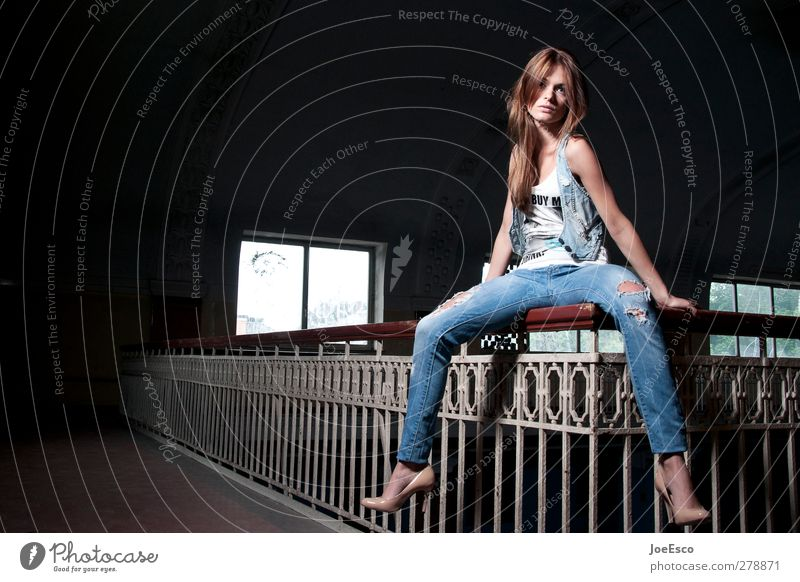 Human being Woman Beautiful Adults Relaxation Dark Freedom Style Fashion Dream Leisure and hobbies Sit Free Cool (slang) Uniqueness To hold on