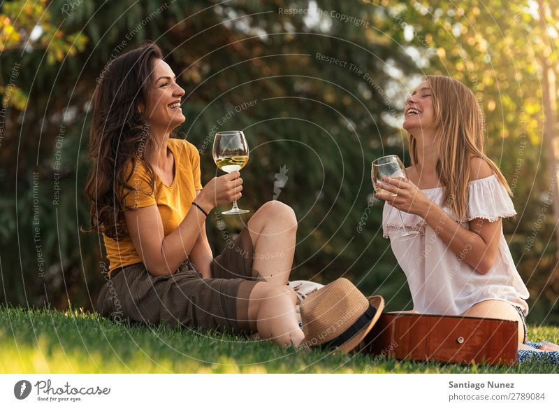 Beautiful women drinking wine in the park. Woman Picnic Friendship Youth (Young adults) Park Happy Wine Glass Drinking Guitar Guitarist Summer Human being Joy