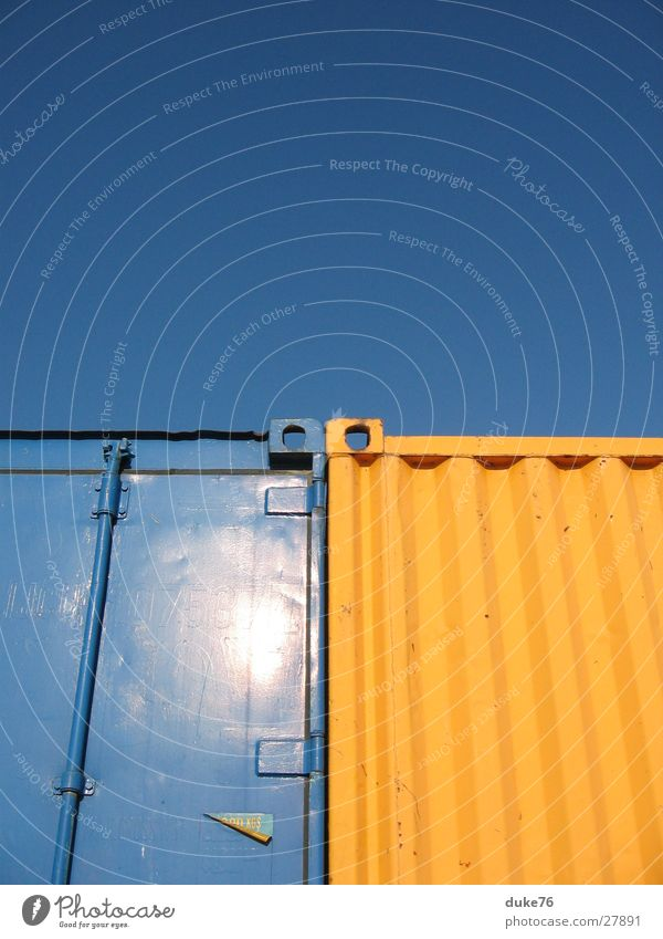 Sun Blue Yellow Industrial Photography Harbour Things Container