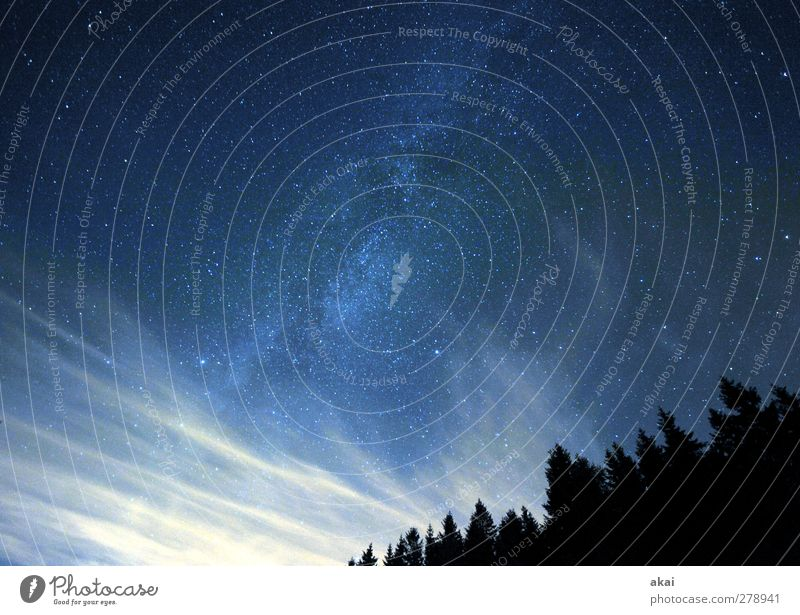 Sky Nature Blue White Summer Plant Clouds Black Forest Landscape Cold Horizon Stars Universe Science & Research Night sky