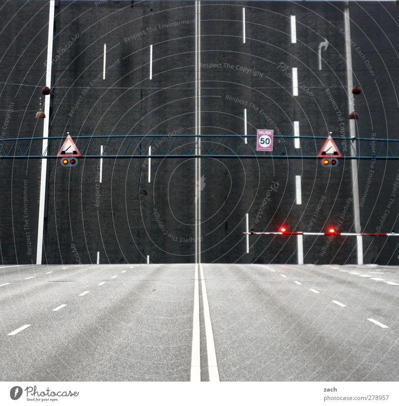 Ascension Copenhagen Denmark Town Deserted Bridge Transport Traffic infrastructure Motoring Road sign Drawbridge Concrete Sign Signs and labeling Signage