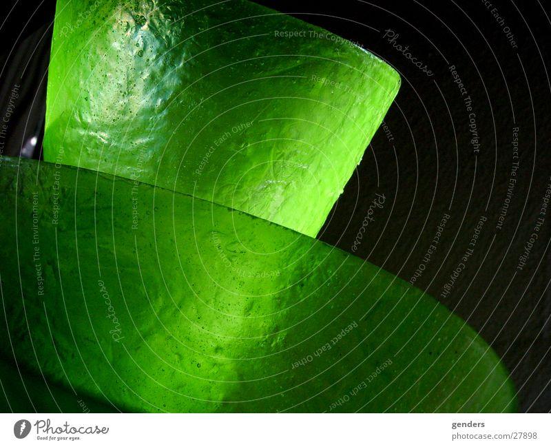 Green Lamp Glass Umbrella Bubble Blow Ancient Glimmer Lampshade