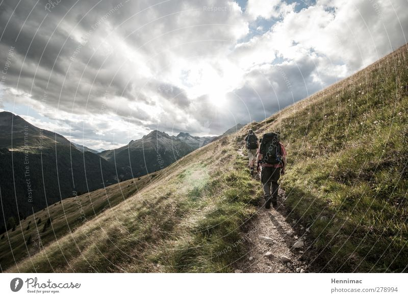 Out. Lifestyle Contentment Relaxation Leisure and hobbies Vacation & Travel Trip Adventure Freedom Mountain Hiking Human being Nature Landscape Sky Clouds